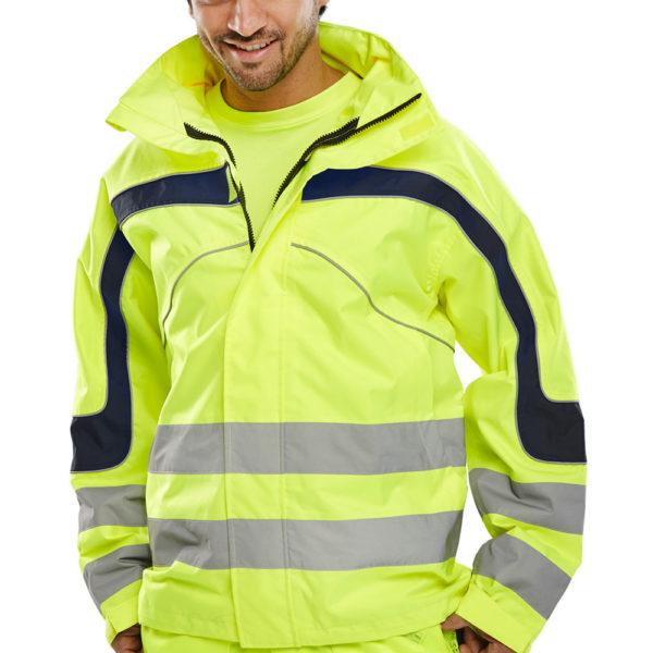 B-Seen Hi-Vis Eton Breathable Waterproof Jacket ET45