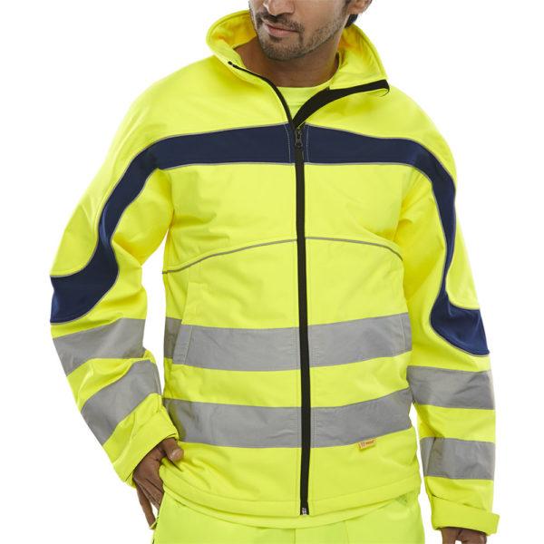 B-Seen Hi Vis Eton Softshell Jacket ET40