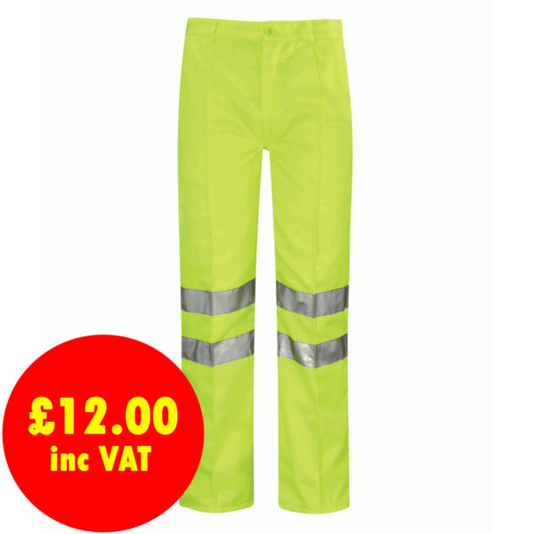 Black Knight Omega High Vis Poly-Cotton Work Trousers