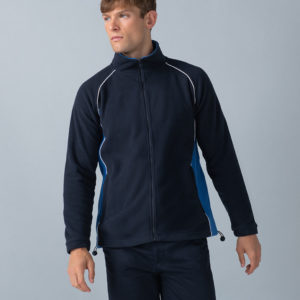 Finden & Hales Contrast Micro Fleece Jacket LV550