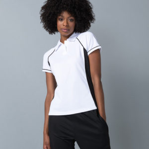 Finden & Hales Ladies Performance Piped Polo Shirt LV371