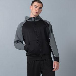 Finden & Hales Panelled Sports Hoodie LV340
