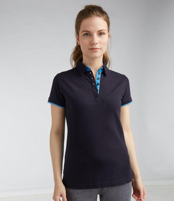 Front Row Ladies Contrast Cotton Pique Polo Shirt FR201