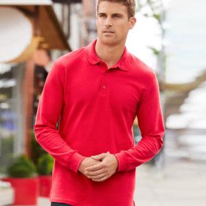 Gildan Long Sleeve Premium Cotton Double Pique Polo Shirt GD44