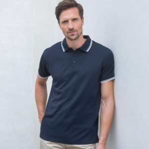 Henbury Coolplus Tipped Polo Shirt H482