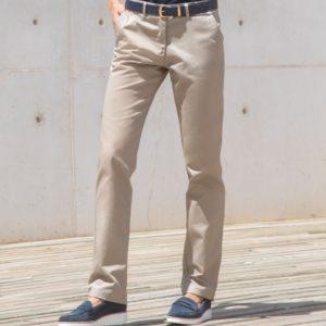 Henbury Ladies 65 35 Flat Fronted Chino Trousers H641