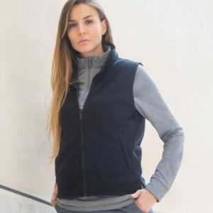 Henbury Ladies Sleeveless Micro Fleece Jacket H856