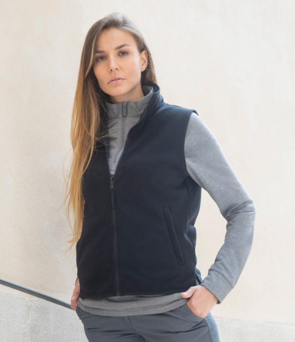 Henbury Ladies Sleeveless Micro Fleece Jacket H856