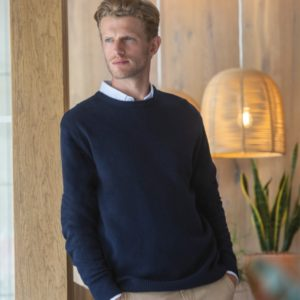 Henbury Lambswool Crew Neck Sweater H735