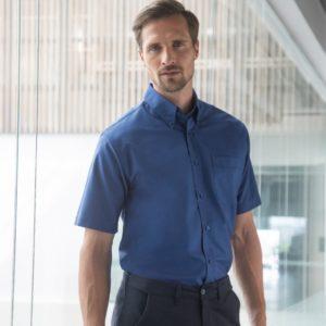 Henbury Short Sleeve Classic Oxford Shirt H515
