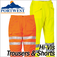 Portwest Hi-Vis Trousers and Shorts