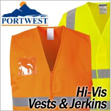 Portwest Hi-Vis Vests and Jerkins