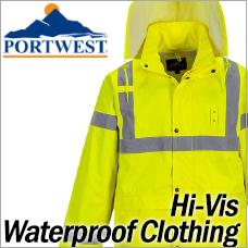 Portwest Hi-Vis Waterproof Clothing