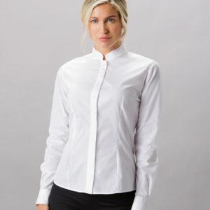 Kustom Kit Ladies Long Sleeve Tailored Mandarin Collar Shirt K261