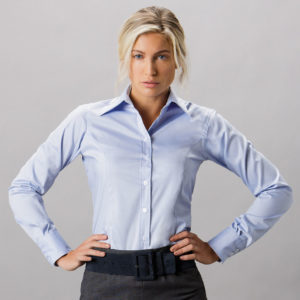 Kustom Kit Ladies Premium Long Sleeve Tailored Oxford Shirt K702