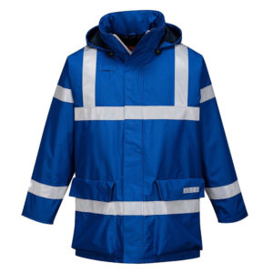 Portwest Bizflame Rain Anti-Static FR Jacket S785 Royal Blue