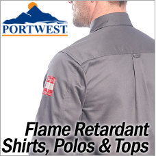 Portwest Flame Retardant T-Shirts Polos and Tops