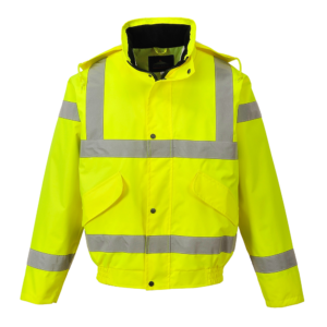 Portwest Hi-Vis Breathable Bomber Jacket RT62 Yellow