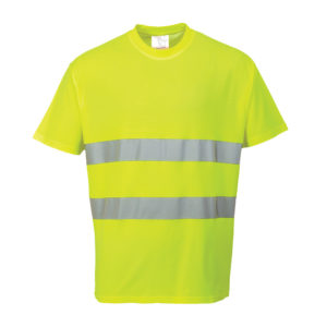 Portwest Hi-Vis Cotton Comfort T-Shirt S172 Yellow