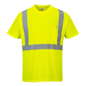 Portwest Hi-Vis Pocket T-Shirt S190 Yellow