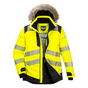 Portwest Hi-Vis Winter Parka Jacket PW369