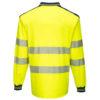 Portwest PW3 Hi-Vis Polo Shirt Long Sleeves Yellow Back