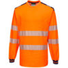 Portwest PW3 Hi-Vis T-Shirt Long Sleeves T185 Orange