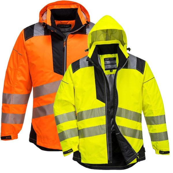 Portwest PW3 Hi-Vis Winter Jacket T400