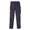 Portwest Texo Contrast Work Trousers TX11 Navy-Orange