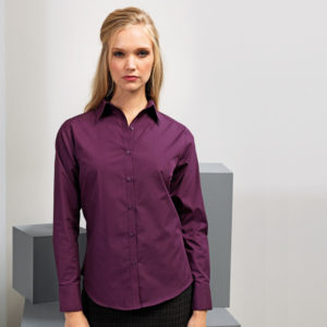 Premier Ladies Long Sleeve Poplin Blouse PR300