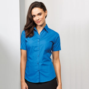 Premier Ladies Short Sleeve Poplin Blouse PR302