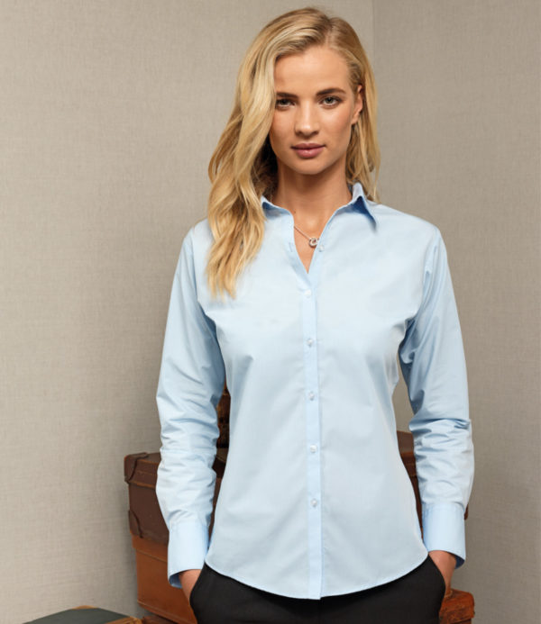 Premier Ladies Supreme Long Sleeve Poplin Shirt PR307
