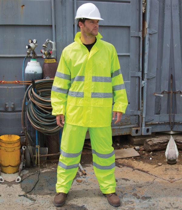 Result Safeguard Hi-Vis Waterproof Suit RS216