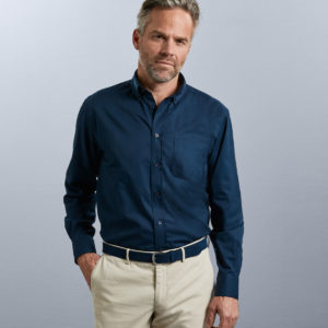 Russell Collection Long Sleeve Classic Twill Shirt 916M