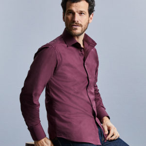 Russell Collection Long Sleeve Easy Care Fitted Shirt 946M